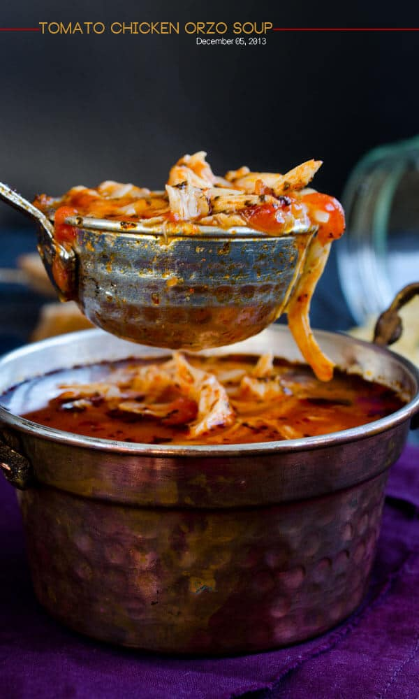 Tomato Chicken Orzo Soup 1