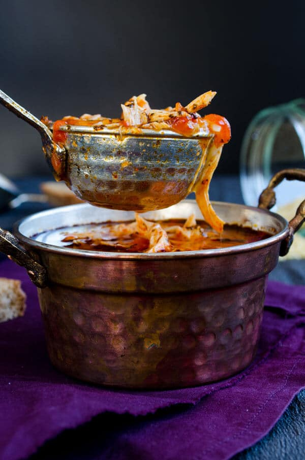 Tomato Chicken Orzo Soup-recipe |giverecipe.com | #soup #orzo #chicken