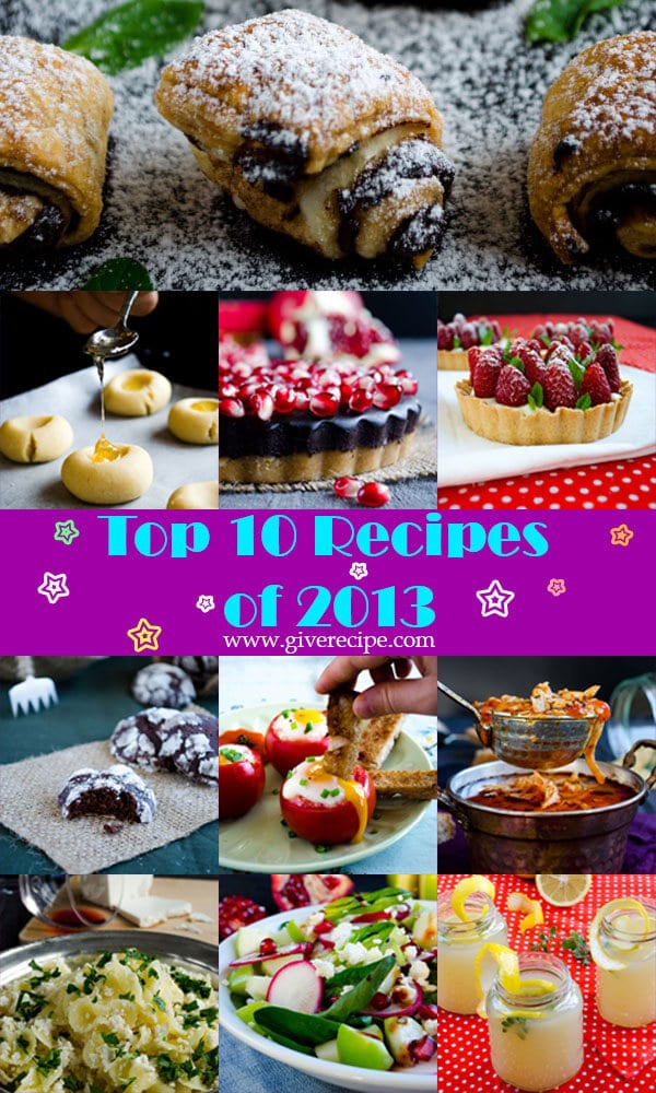 Top 10 Recipes of 2013 | giverecipe.com | #recipe