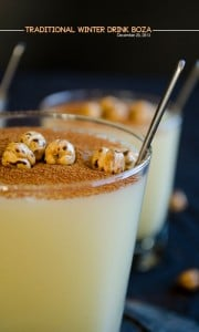 Traditional Winter Drink Boza | giverecipe.com | #boza #drink #turkish
