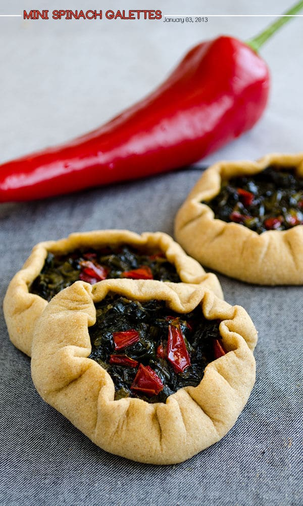 Mini Spinach Galettes 1