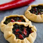 Mini spinach galettes | giverecipe.com | #spinach #galette #whole wheat