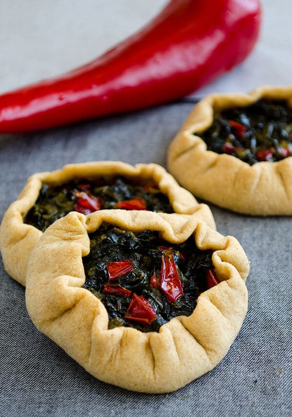 Mini spinach galettes | giverecipe.com | #spinach #galette #whole wheat