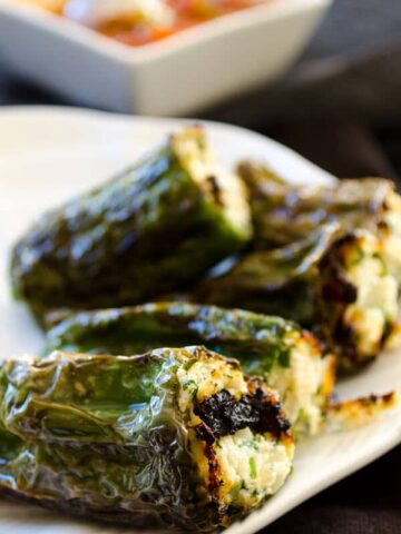 Cheese stuffed peppers | giverecipe.com | #pepper #cheese #appetizer