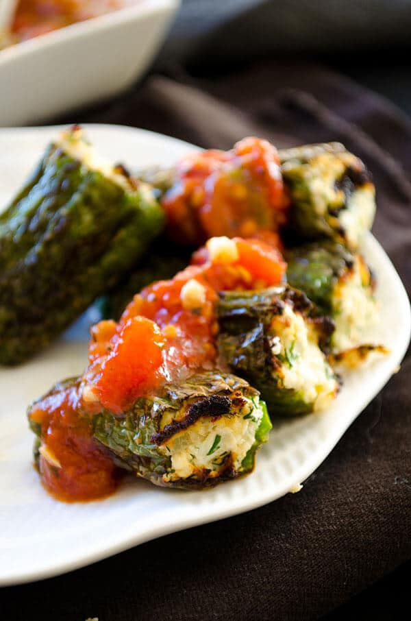 Cheese stuffed peppers   giverecipe.com   #pepper #cheese #appetizer