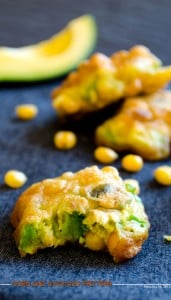 Corn and Avocado Fritters