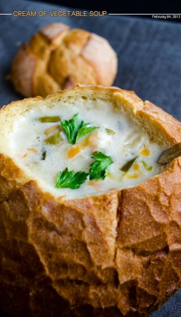 Cream of Vegetable Soup | giverecipe.com | #soup #vegetable