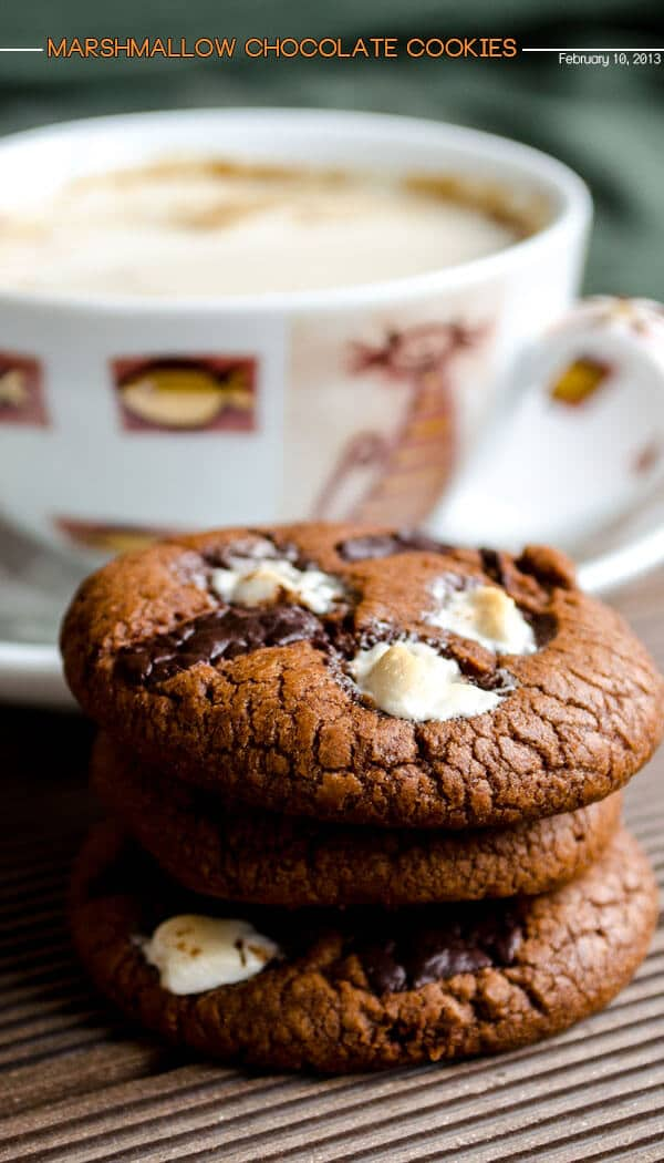 Marshmallow chocolate cookies 1