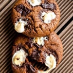 Marshmallow chocolate cookies | giverecipe.com | #cookies #chocolate #marshmallow #valentine's