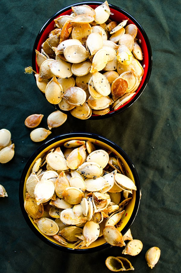 Roasted pumpkin seeds | giverecipe.com | #pumpkinseeds #snack #pumpkin ...
