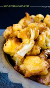 Simple spicy fried cauliflower | giverecipe.com | #cauliflower #gluten-free #vegetarian #vegeable
