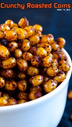 Crunchy Roasted Corns | giverecipe.com | #corn #spicy #snack