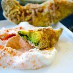 Gluten-free Avocado Fries | giverecipe.com | #avocado #snack #glutenfree #cornmeal