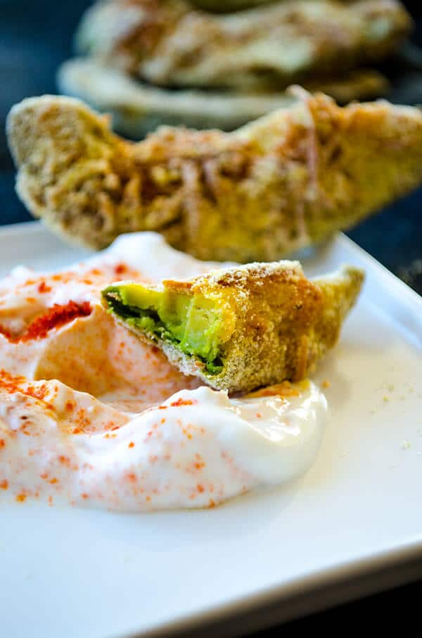Gluten-free Avocado Fries | giverecipe.com | #avocado #snack #glutenfree #cornmeal