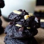 Gluten-free brownie cookies | giverecipe.com | #cookies #chocolate #glutenfree #flourless
