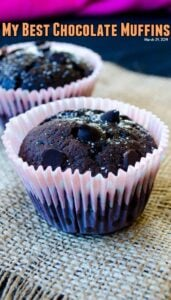 My Best Chocolate Muffins | giverecipe.com | #muffins #chocolate #chocolatechips #chocolatemuffins