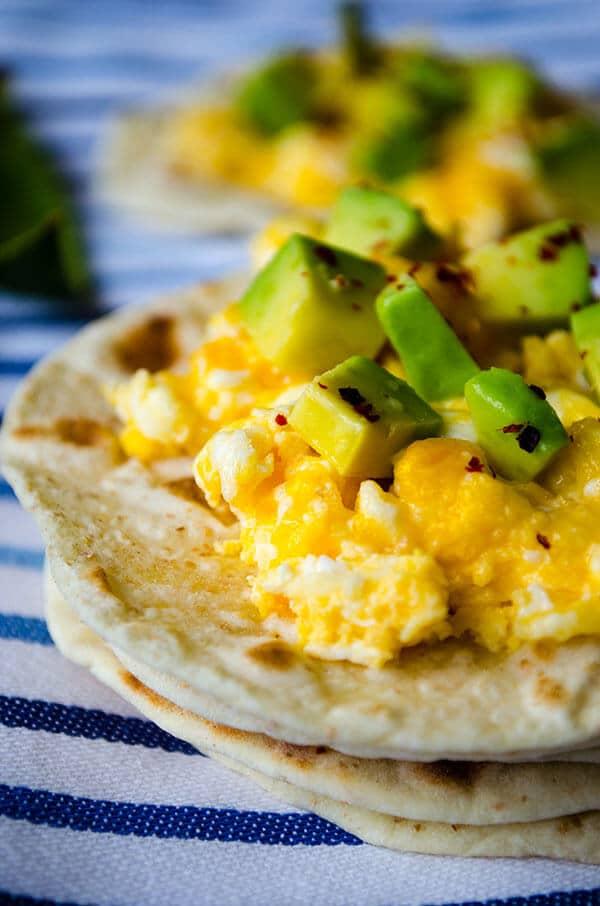 Scrambled Eggs with Avocado   giverecipe.com   #egg #breakfast #scrambledeggs #avocado