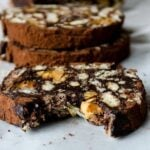 Snickers chocolate salami | giverecipe.com | #chocolate #salami #dessert