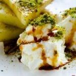 Grilled Pineapple with Ice Cream | giverecipe.com | #pineapple #ice cream #pistachio #summer #dessert