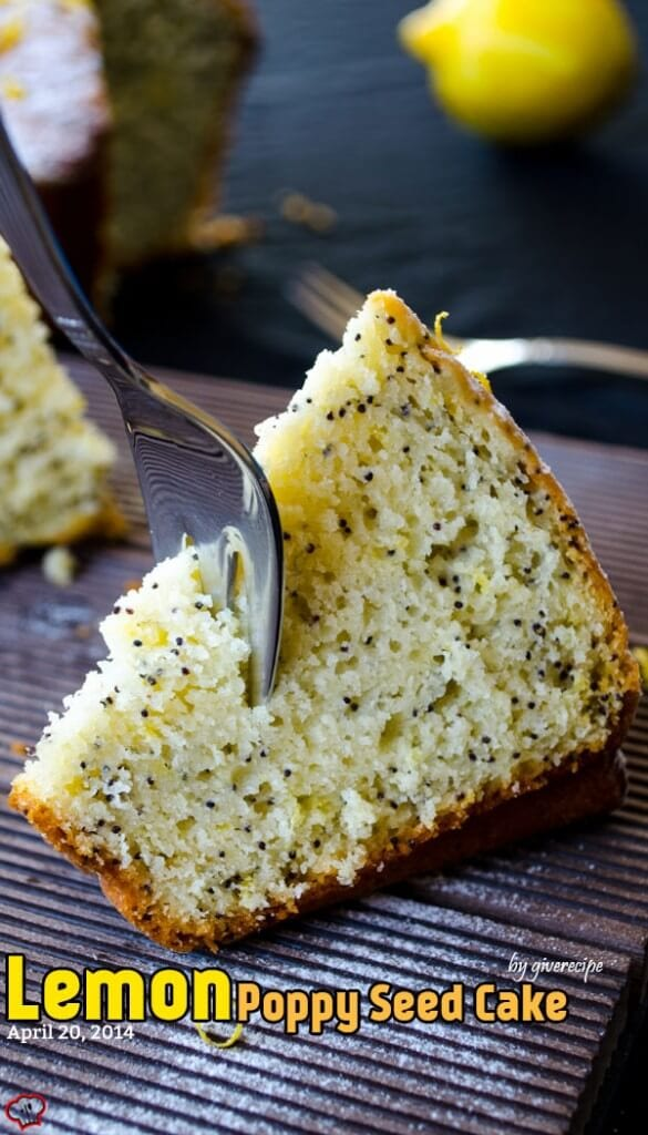 Lemon Poppy Seed Cake | giverecipe.com | #lemon #cake #poppyseed