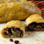 Ottoman Beef and Feta Rolls |giverecipe.com | #ottoman #feta #groundbeef #pinenuts #currants