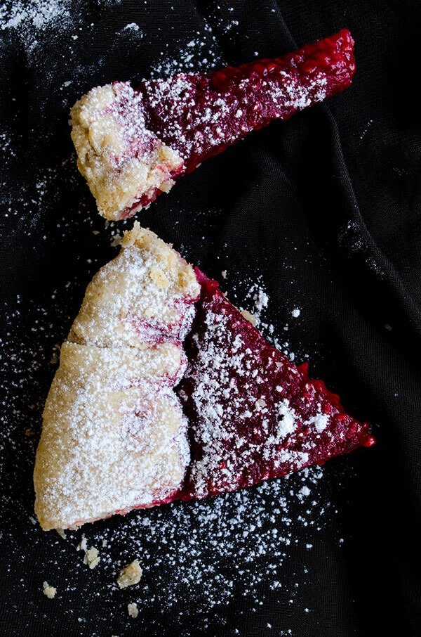Rustic Raspberry Tart | giverecipe.com | #tart #dessert #raspberry