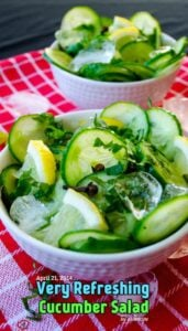 Very Refreshing Cucumber Salad
