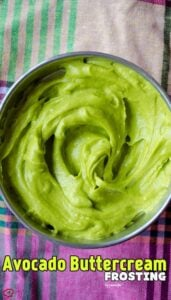 Avocado Buttercream Frosting | giverecipe.com | #frosting #avocado #butercream