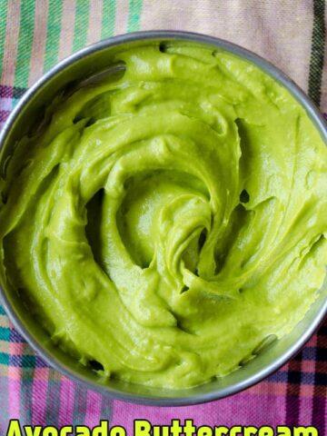 Avocado Buttercream Frosting | giverecipe.com | #frosting #avocado #butercream