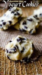 Chocolate Chip Yogurt Cookies | #cookies #chocolatechip #yogurt