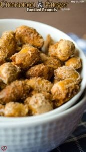 Cinnamon and Ginger Candied Peanuts
