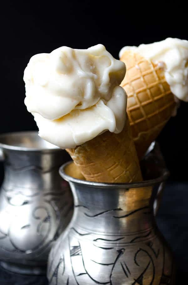 Homemade Turkish Ice Cream served in cones