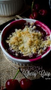 Fresh Cherry Crisp | giverecipe.com | #cherry #crisp #summer #dessert