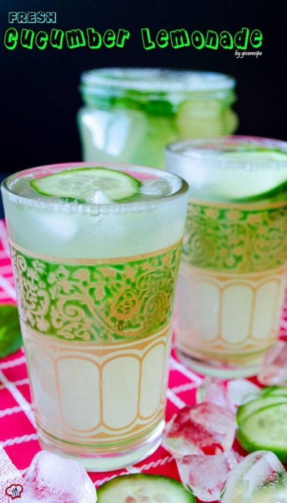 Fresh Cucumber Lemonade | giverecipe.com | #lemonade #lemon #cucumber #zest #mint #drink #beverage #summer