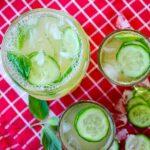 Fresh Cucumber Lemonade | giverecipe.com | #lemonade #lemon #cucumber #zest #mint #drink #beverage #summer