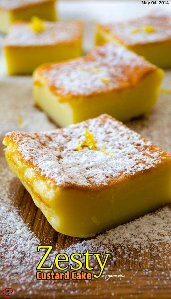 Zesty Custard Cake 1