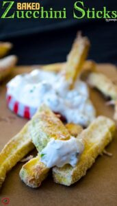 Baked Zucchini Sticks | giverecipe.com | #zucchini #fries #glutenfree #appetizer #cornmeal