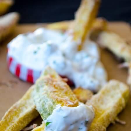 Baked Zucchini Sticks | giverecipe.com | #zucchini #fries #glutenfree #appetizer #cornmeal