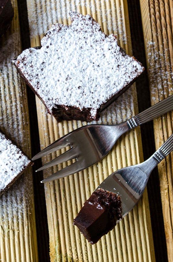 Chocolate Magic Custard Cake | giverecipe.com | #cake #chocolate #custard #dessert