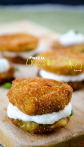 Fried Zucchini Chips | giverecipe.com | #zucchini #snack #chips #appetizer #summer