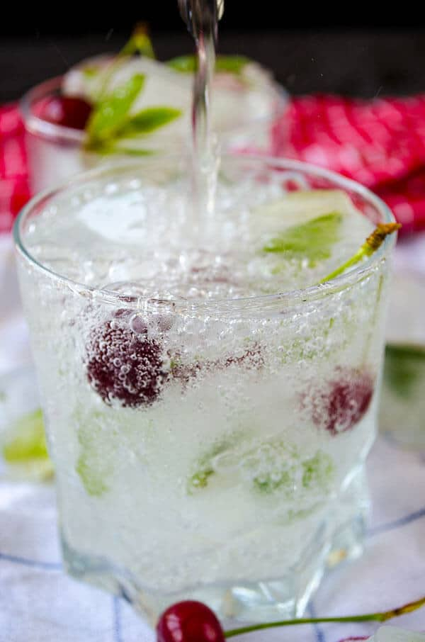 How to Make Mint Ice Cubes |giverecipe.com | #mint #ice #icecubes #summer