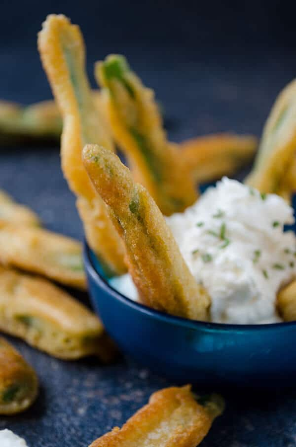 Fried Green Beans | giverecipe.com | #greenbeans #appetizer #snack