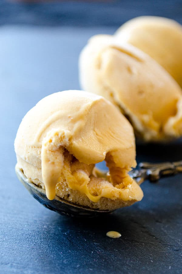 Salted Caramel Ice Cream | giverecipe.com | #icecream #caramel #summerrecipes