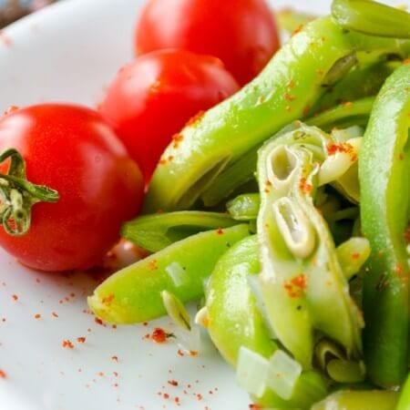 Tangy Green Bean Salad | giverecipe.com | #salads #greensalads #greenbeans #summerrecipes
