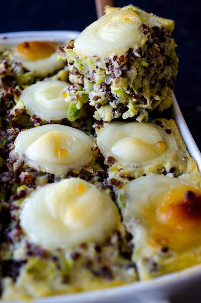 Cheesy Zucchini Quinoa Casserole | giverecipe.com | #casserole #quinoa ...