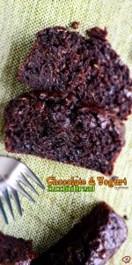 Chocolate and Yogurt Zucchini Bread | giverecipe.com | #bread #cake #chocolate #zucchini