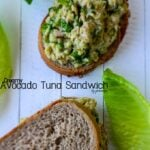 Creamy Avocado Tuna Sandwich