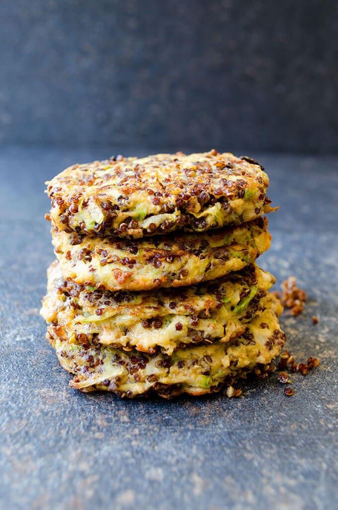 Feta Quinoa Zucchini Fritters | giverecipe.com | #fritters #zucchini #quinoa #healthy