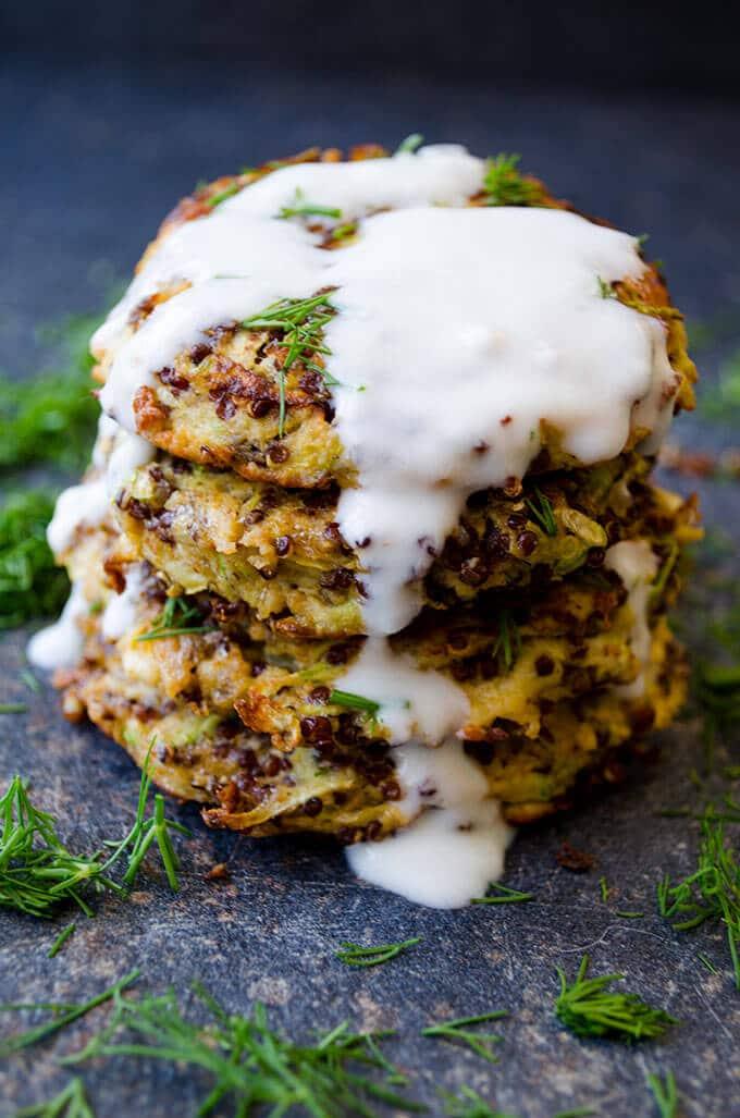 Feta Quinoa Zucchini Fritters 5