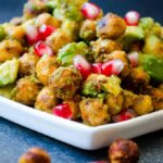 Avocado and Chickpea Salad with Pomegranates | giverecipe.com | #salad #chickpeas #avocado #pomegranates #glutenfree #vegetarian